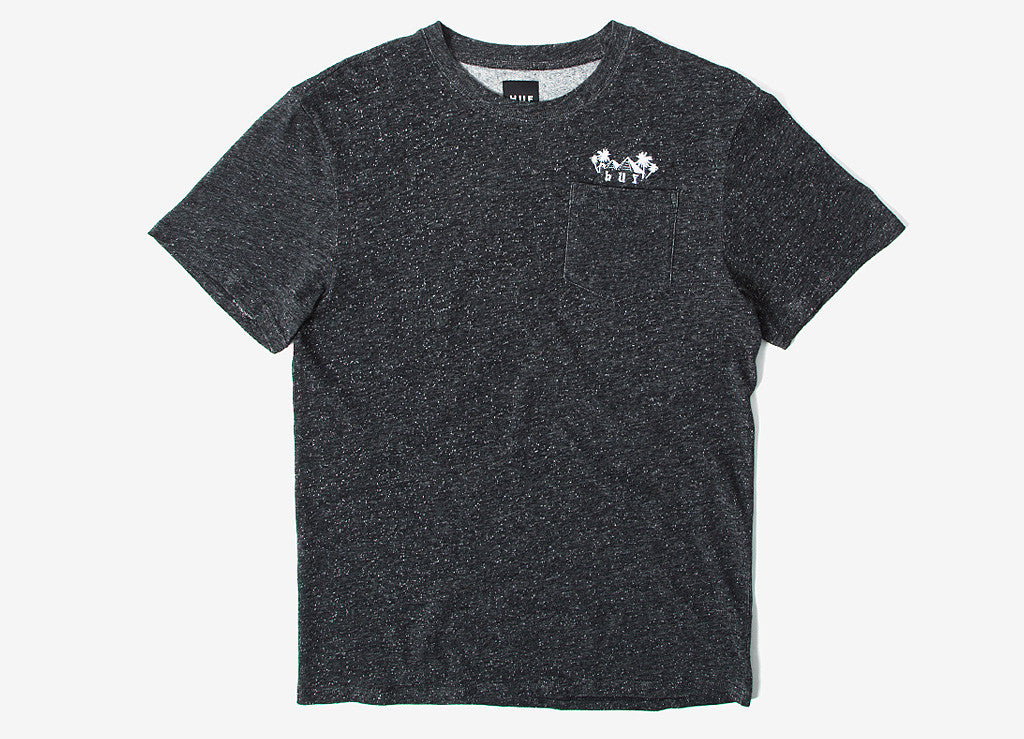 HUF Pyramid Pocket T Shirt - Black Heather