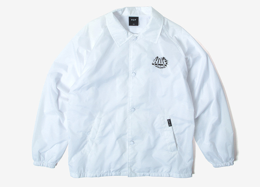HUF Pyramid Coach Jacket - White