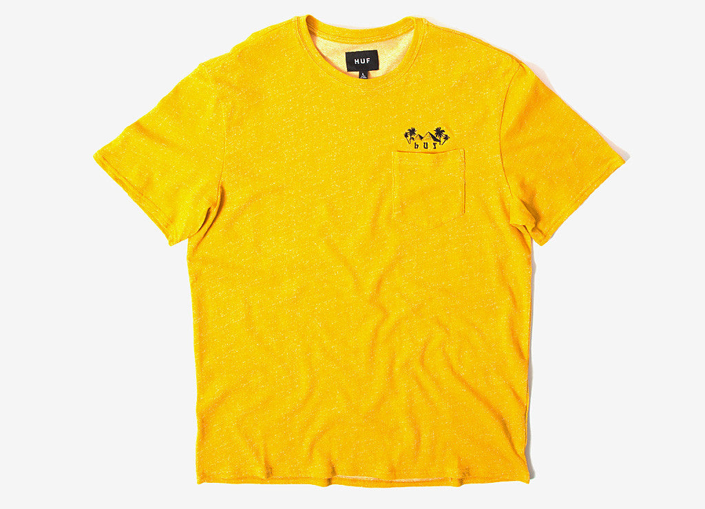 HUF Pyramid Pocket T Shirt - Mustard Heather