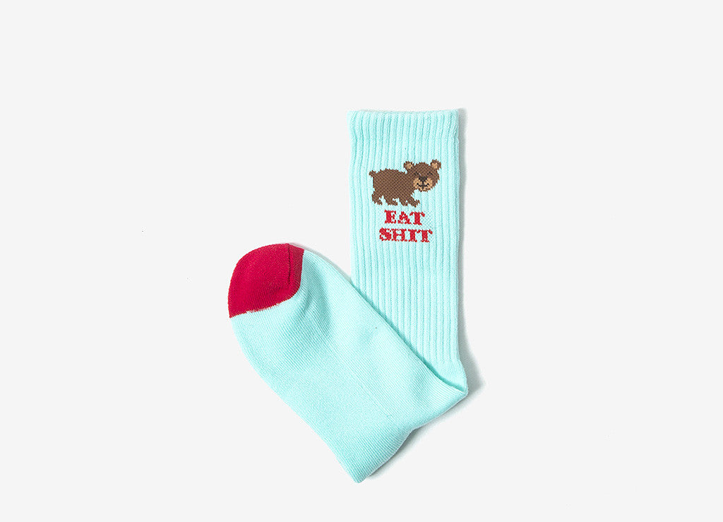 HUF Bear Cute Socks - Teal/Red