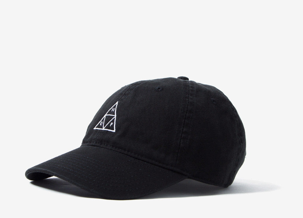 HUF Triple Triangle Curved Peak Dad Cap - Black