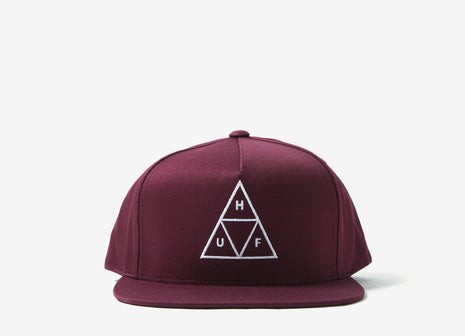 HUF Triple Triangle Snapback Cap - Burgundy