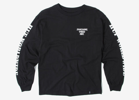 HUF Vibes Long Sleeve T Shirt - Black
