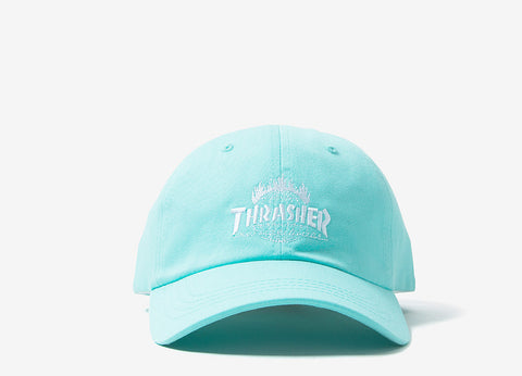 HUF x Thrasher TDS Curved Visor 6 Panel - Mint