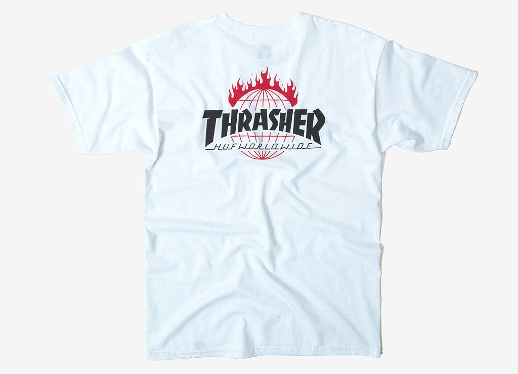 HUF x Thrasher TDS T Shirt - White