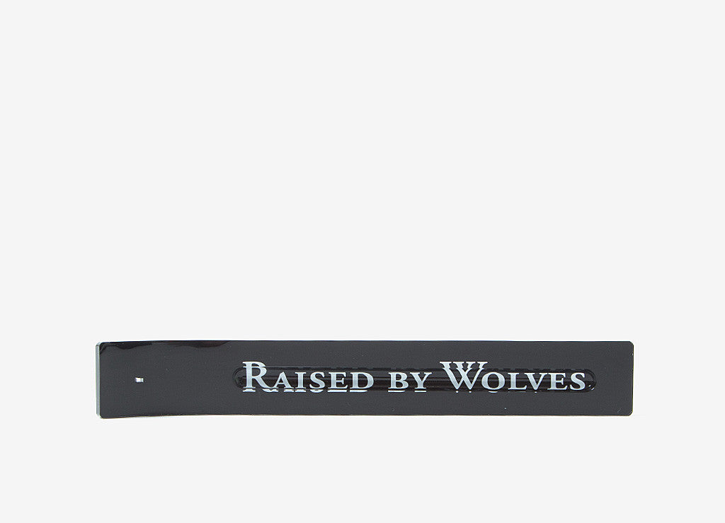 Raised By Wolves Logotype Incense Holder - Black
