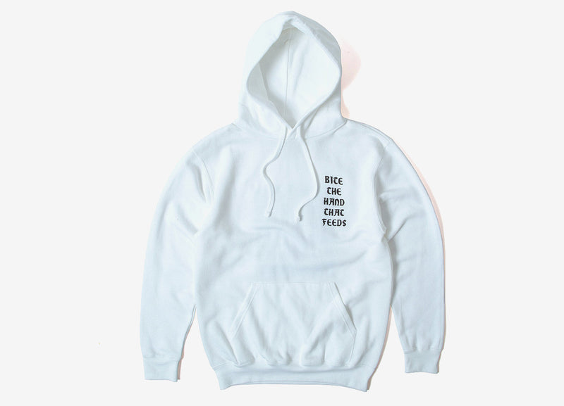 indcsn Bite The Hand Pullover Hoody - White