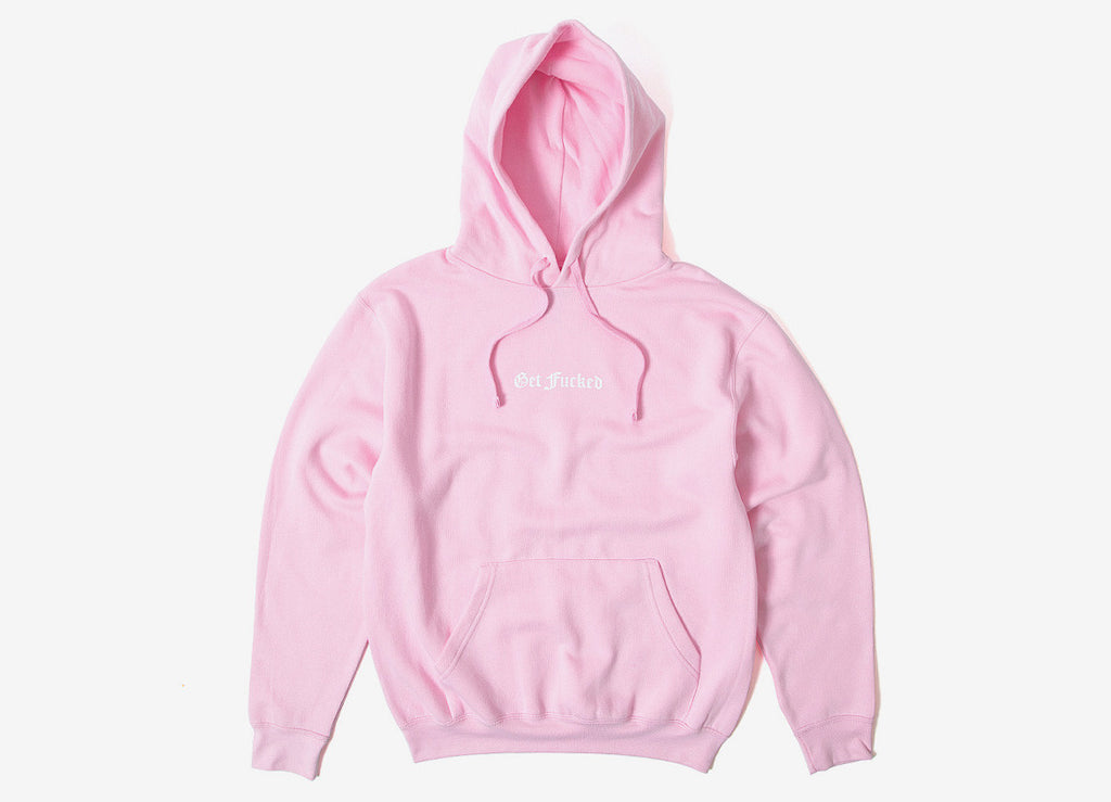 indcsn Get Fucked Pullover Hoody - Pink