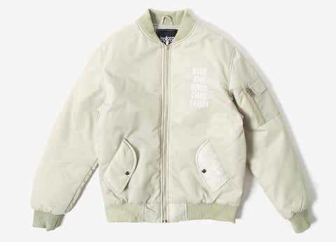 indcsn Bite The Hand Bomber Jacket - Stone