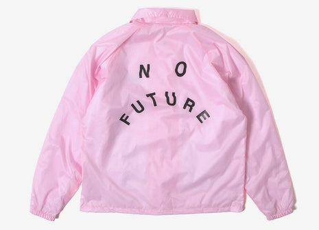 indcsn No Future Distort Coach Jacket - Pink