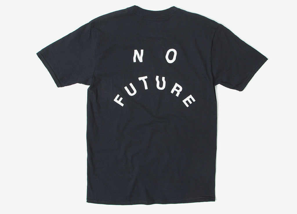 indcsn No Future Distort T Shirt - Black