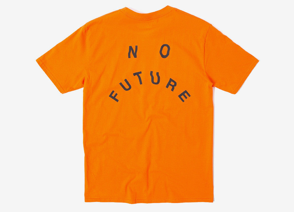 indcsn No Future Distort T Shirt - Orange