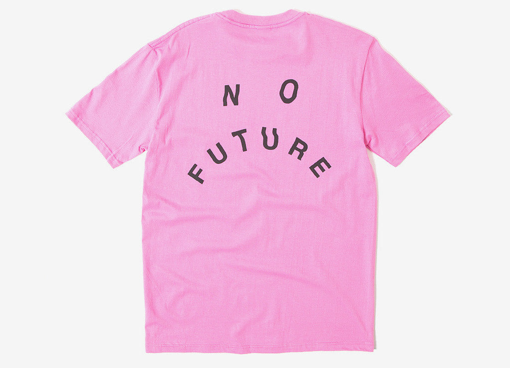 indcsn No Future Distort T Shirt - Coral
