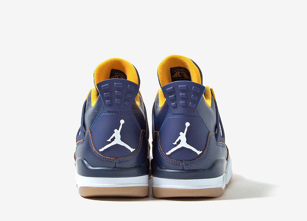 Air Jordan IV Dunk From Above Shoes - Midnight Navy/Gold Leaf