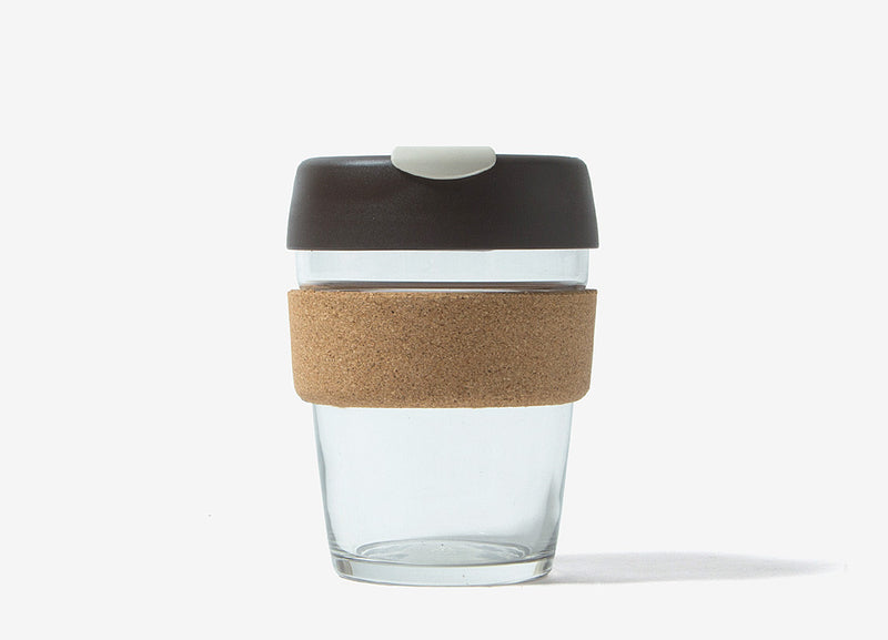 KeepCup Cork Reusable Glass Coffee Cup - Almond Cork