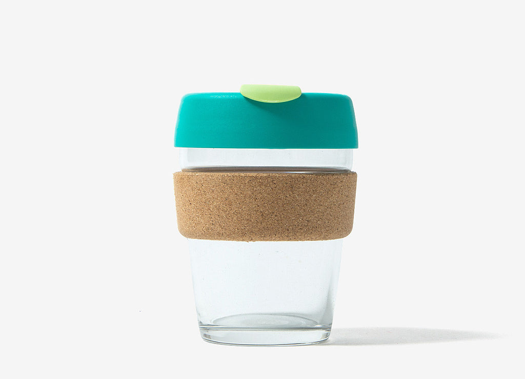 KeepCup Cork Reusable Glass Coffee Cup - Thyme Cork