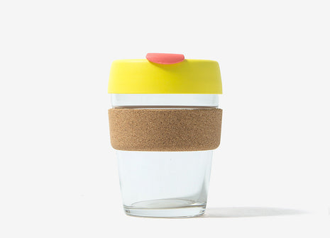 KeepCup Cork Reusable Glass Coffee Cup - Saffron Cork