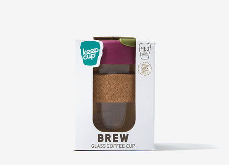 KeepCup Cork Reusable Glass Coffee Cup - Cinnamon Cork