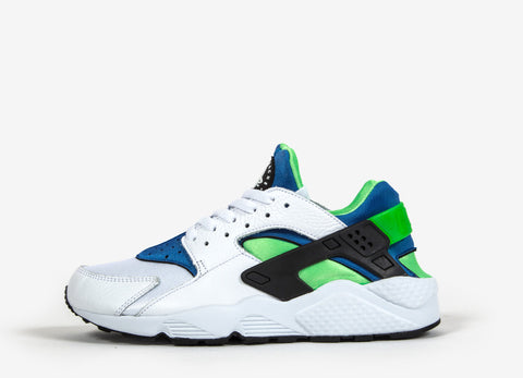 Nike Air Huarache 'Scream Green' Shoes - White/Royal Blue/Black/Scream Green