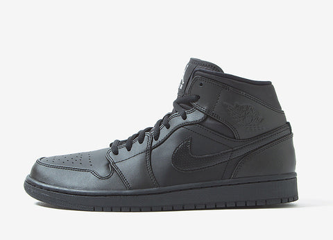 Air Jordan 1 Mid Shoes - Black/White