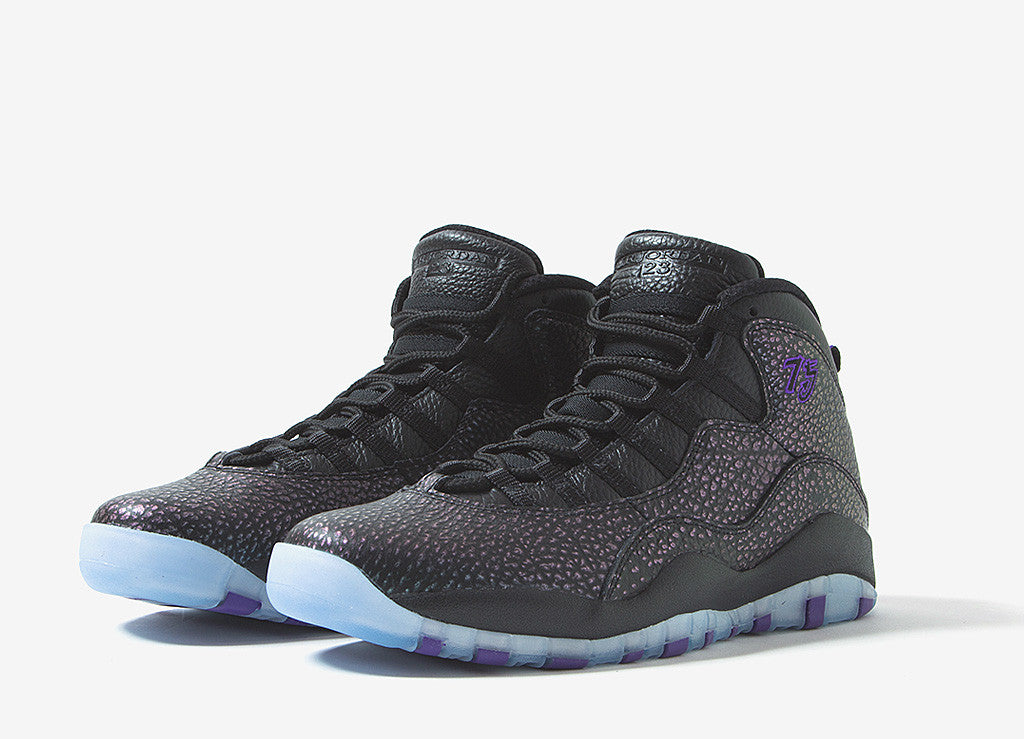 Air Jordan X Retro 'Paris' Shoes - Black/Black/Fierce Purple