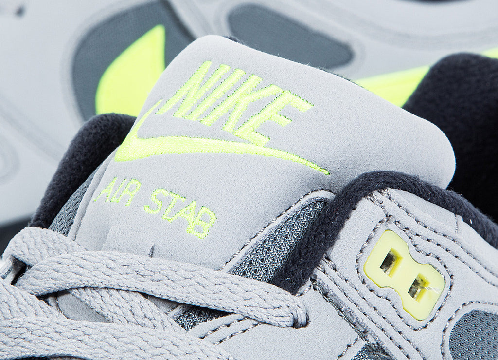 Nike Air Stab Shoes - Cool Grey/Volt