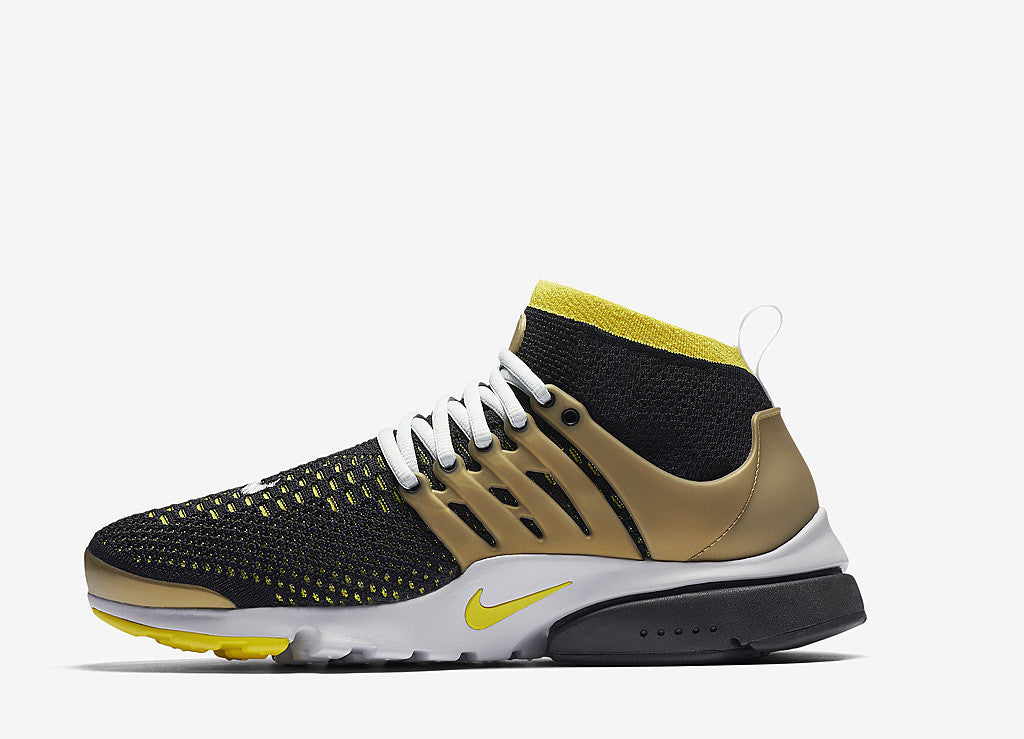 Nike Air Presto Ultra Flyknit Shoes - Black/Yellow-Streak
