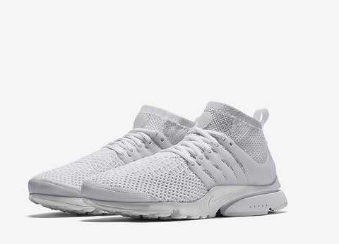 Nike Air Presto Ultra Flyknit Shoes - White/White-White