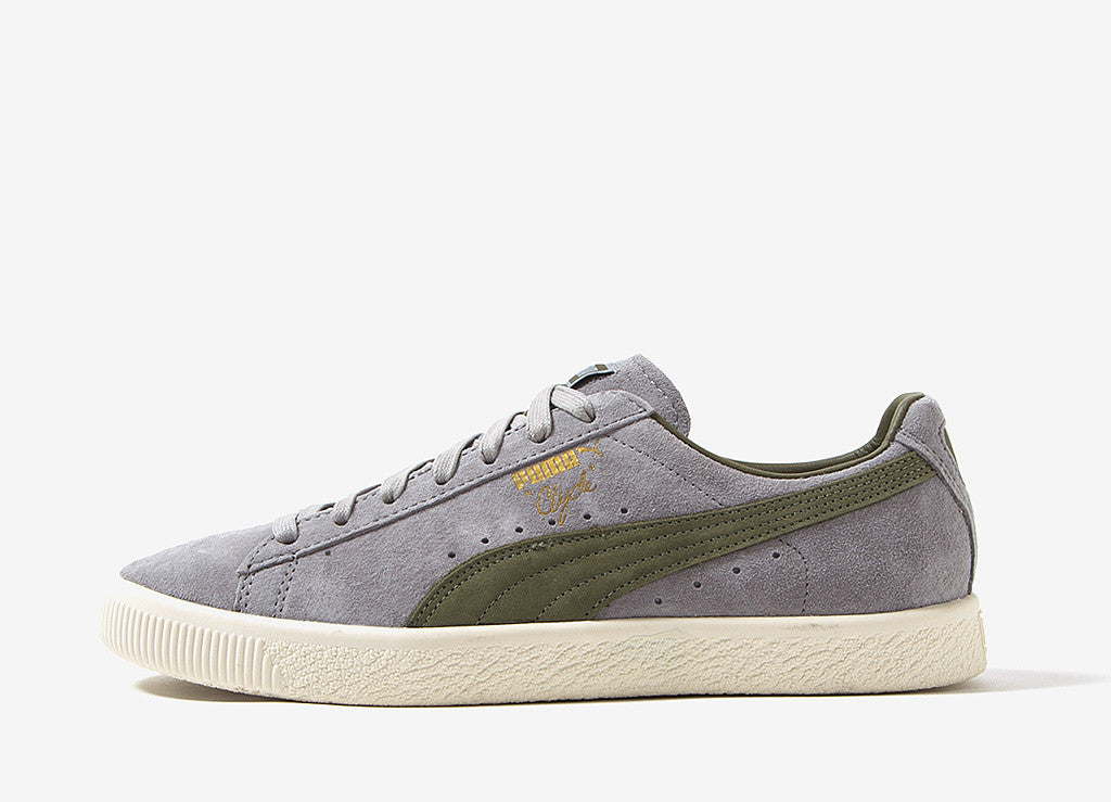 PUMA x Bobbito Clyde Shoes - Drizzle Olive