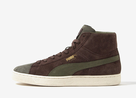PUMA x Bobbito Suede Mid Shoes - Chestnut/Olive