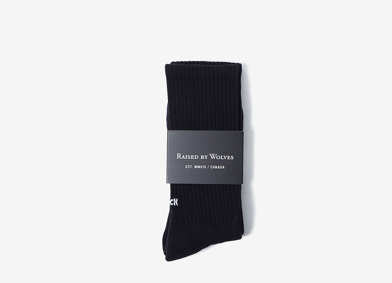 Raised By Wolves Fuck Off Crew Socks - Black