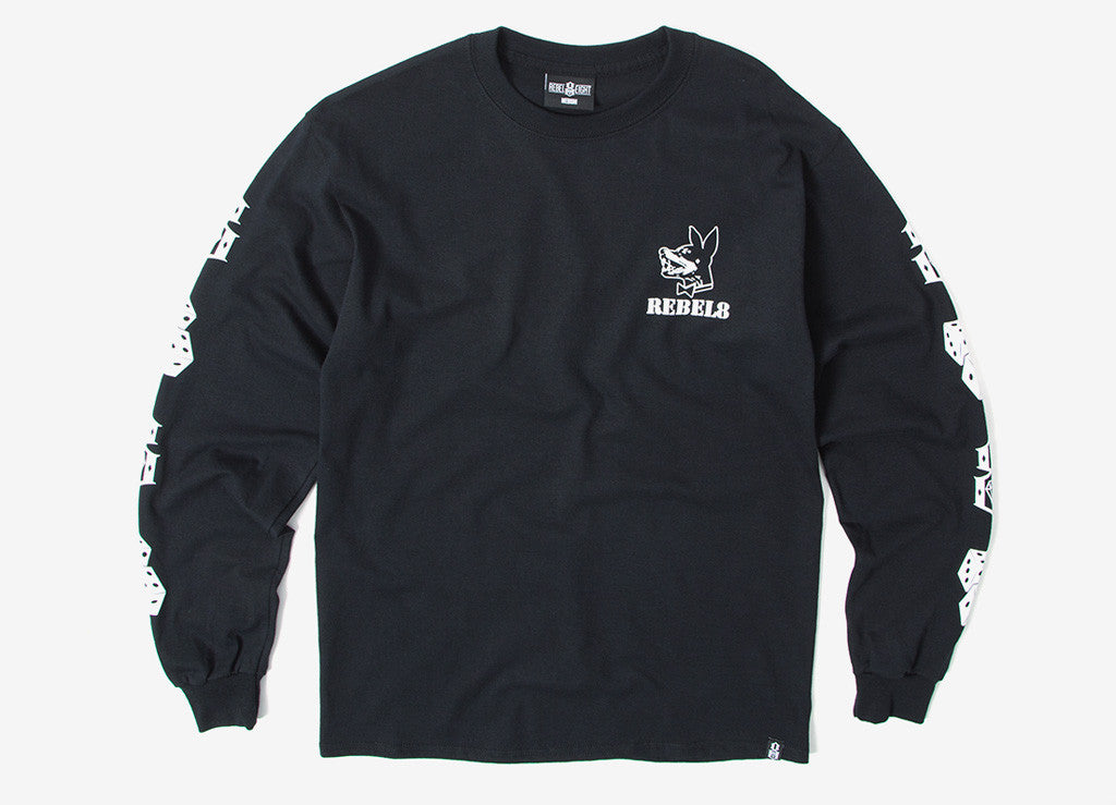 Rebel8 Proper Fucked Long Sleeve T Shirt - Black