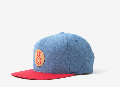 Rebel8 Circle 8 Snapback Cap - Chambray