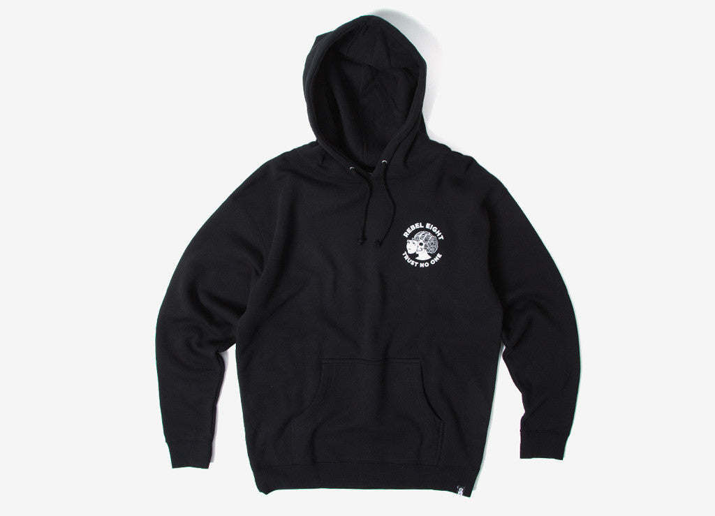 Rebel8 Two Faced Pullover Hoody - Black