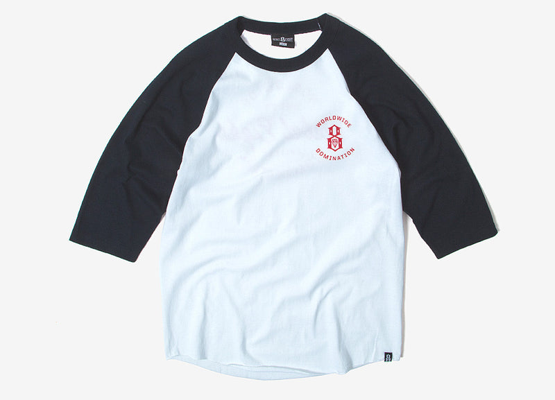 Rebel8 Worldwide Domination Raglan T Shirt - Navy