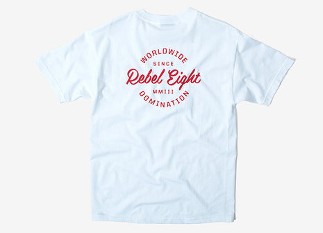 Rebel8 Worldwide Domination T Shirt - White