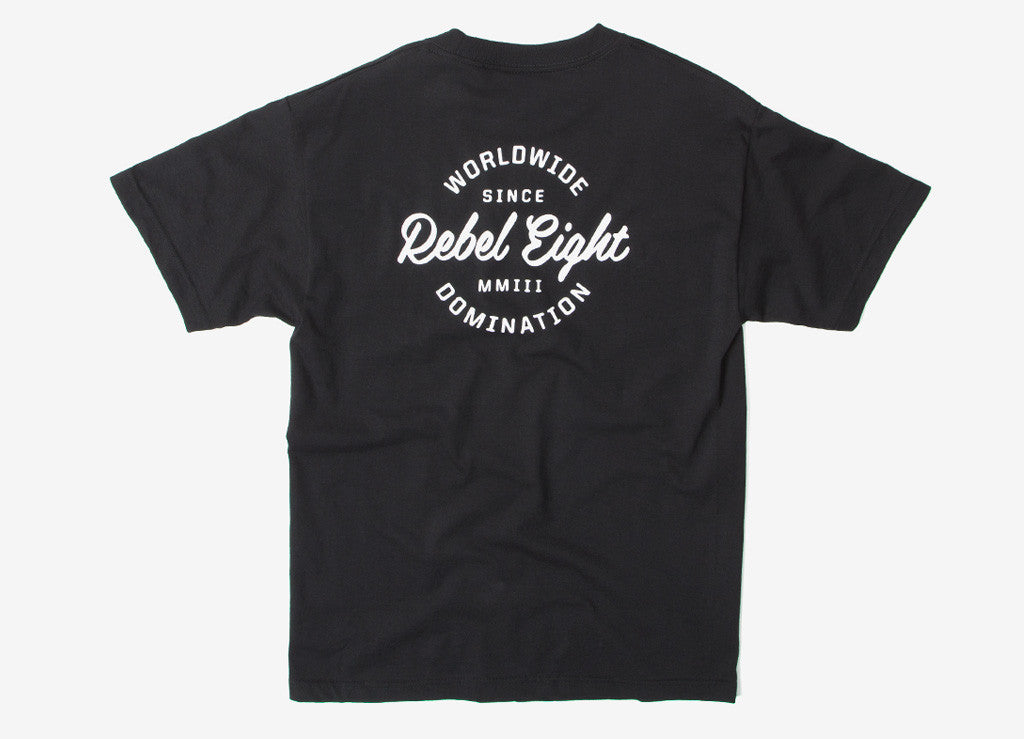 Rebel8 Worldwide Domination T Shirt - Black