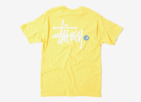 Stussy Basic Logo T Shirt - Faded Yellow
