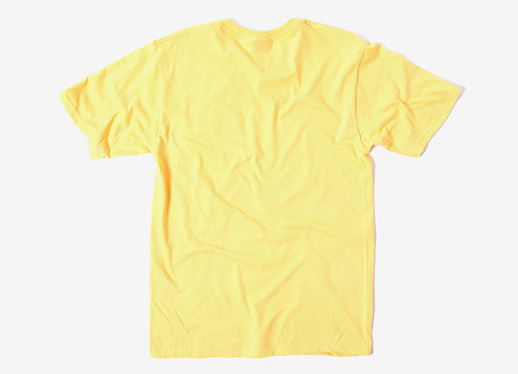 Stussy International T Shirt - Faded Yellow