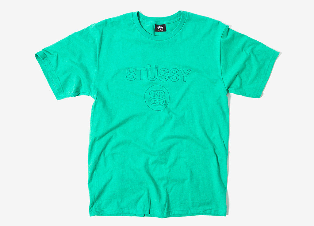 Stussy Link Embroidered T Shirt - Green