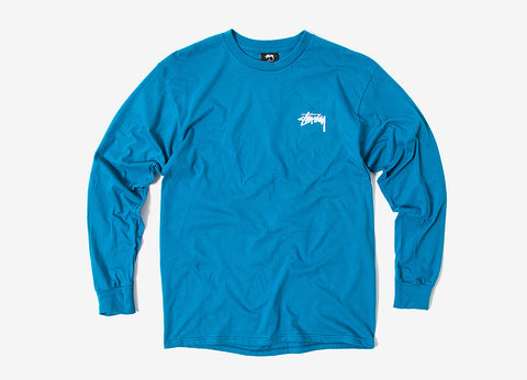 Stussy Original Stock Long Sleeve T Shirt - Blue