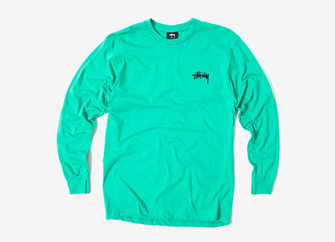 Stussy Original Stock Long Sleeve T Shirt - Green