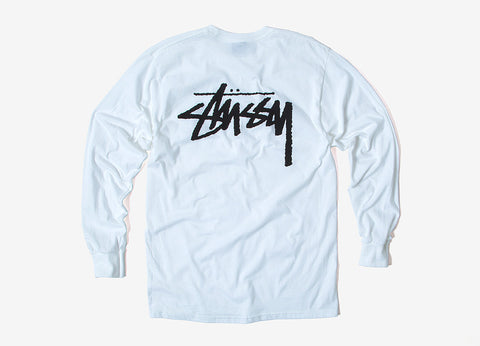 Stussy Original Stock Long Sleeve T Shirt - White
