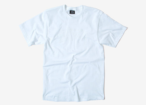 Stussy Stock Embroidered T Shirt - White