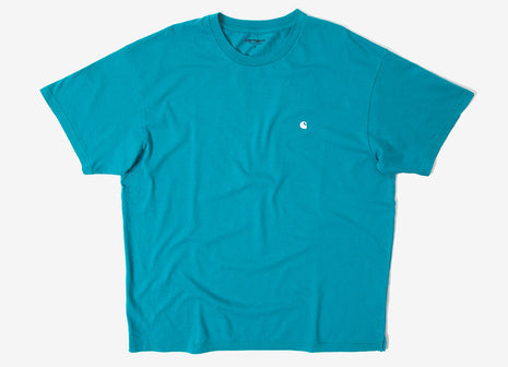 Carhartt Madison T Shirt - Soft Teal/White