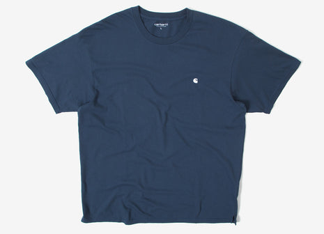 Carhartt Madison T Shirt - Stone Blue/White