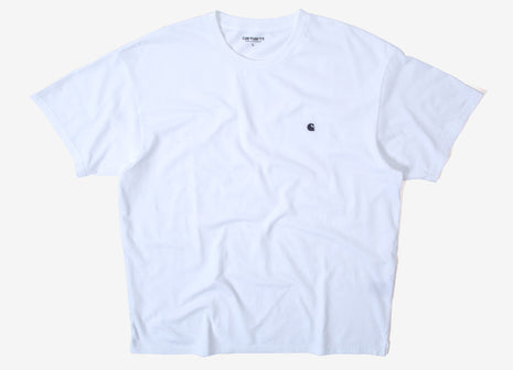 Carhartt Madison T Shirt - White/Blue