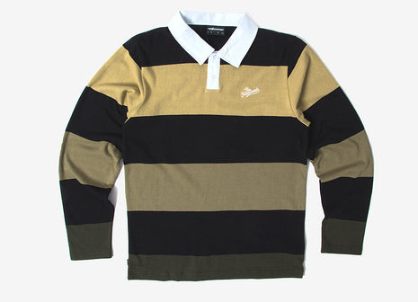The Hundreds Budrow LS Polo Shirt - Black