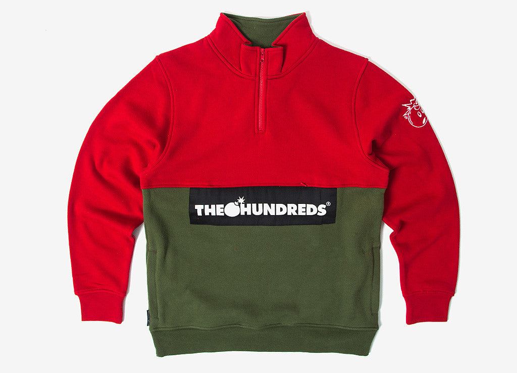 The Hundreds Dime Half Zip Pullover - Red