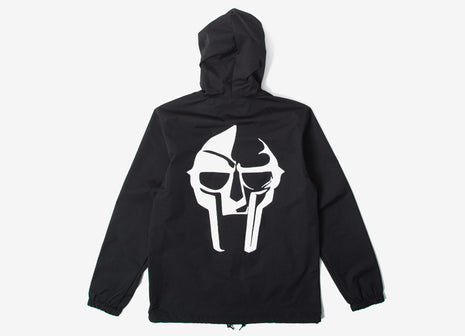 The Hundreds x DOOM Mask Hooded Coach Jacket - Black